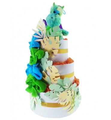 TARTA de pañales Dragon Verde