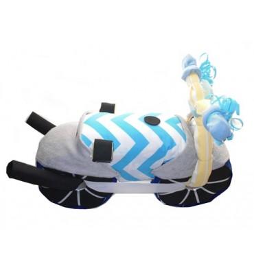 MOTO de pañales rayas azul