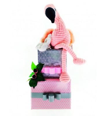 TARTA de pañales Flamingo