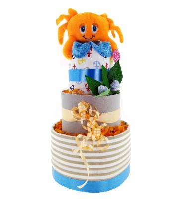 TARTA de pañales cangrejo