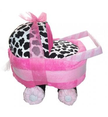 CARRO de pañales vaca rosa