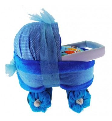 CARRO de pañales buhos azul